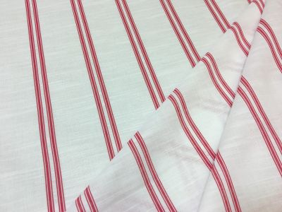 Bold Stripe Voile Red Tex Ex 1970