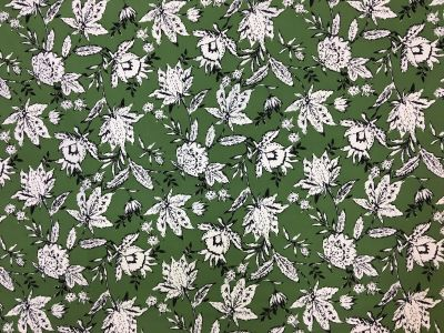 Floral Outline Lawn Green Tex Ex 1975