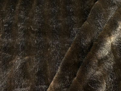 Luxury Faux Beaver Stripe Fur Brown Tex Ex 2203