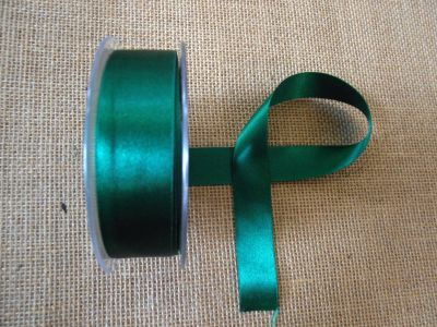25mm Satin Ribbon Hunter Green