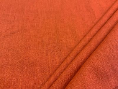 Washed Linen Rust Orange C534