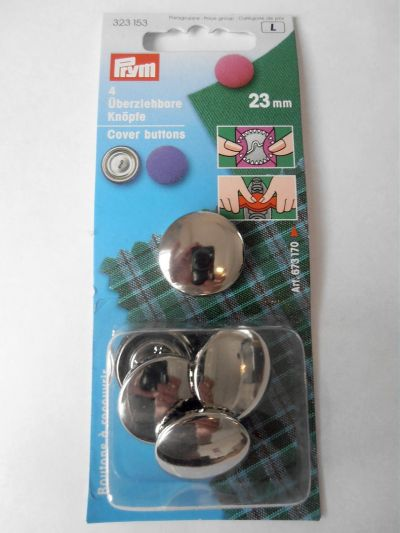 23mm Metal Cover Buttons