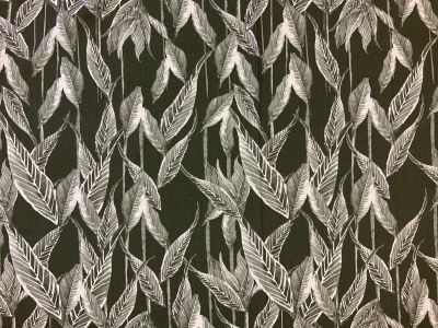 Leaves and stems linen viscose B224