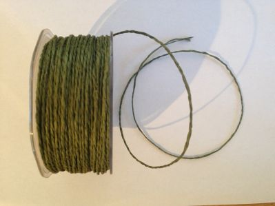 Olive Paper Cord | Textile Express | Buy Fabric Online