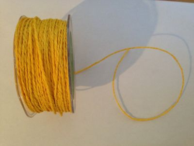 Yellow Paper Cord | Textile Express | Buy Fabric Online