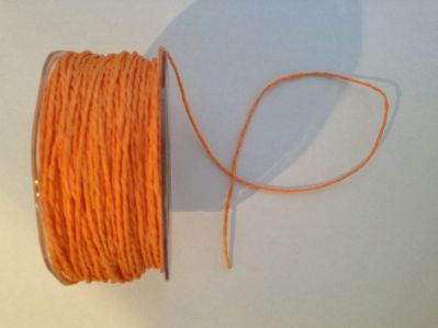 Orange Paper Cord | Textile Express | Buy Fabric Online