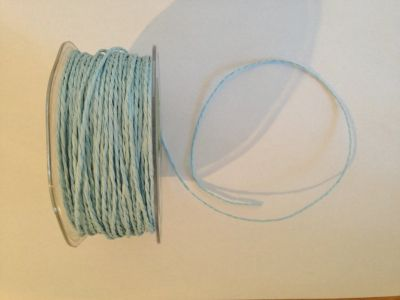 Light Blue Paper Cord | Textile Express | Buy Fabric Online