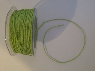 Parrot Green Paper Cord | Textile Express | Buy Fabric Online