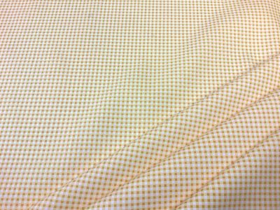 Mini gingham yellow cotton Poplin C570