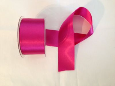 50mm Satin Ribbon Fuchsia