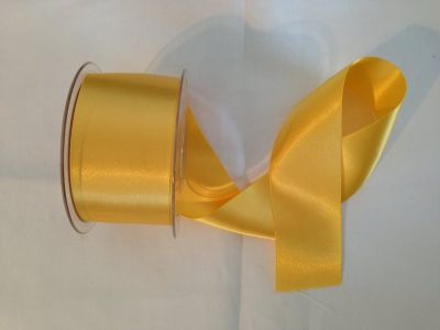 50mm Satin Ribbon Yellow Gold
