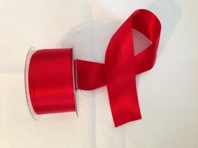 50mm Satin Ribbon Red