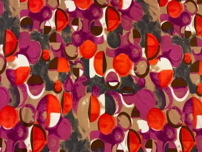 Artist's Circles U157 Purple Orange Brown