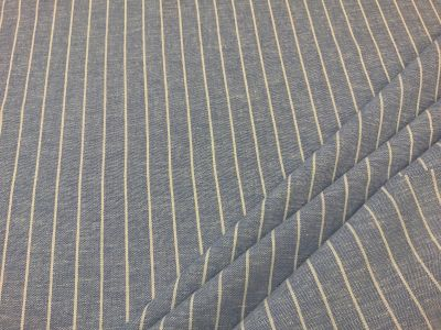 Pin stripe linen viscose light blue  C543