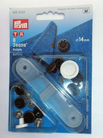 Prym Jeans Buttons Pack of 8