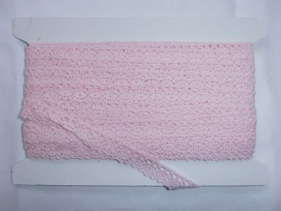 Scalloped Cotton Lace Baby Pink