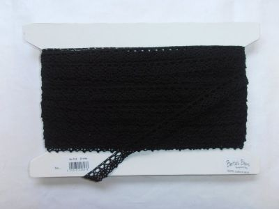 Scalloped Cotton Lace Black