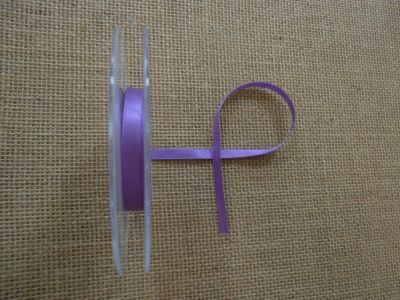 7mm Satin Ribbon Purple