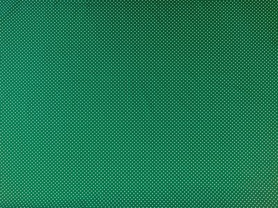 Spotty Cotton Poplin Emerald Green  CP0009