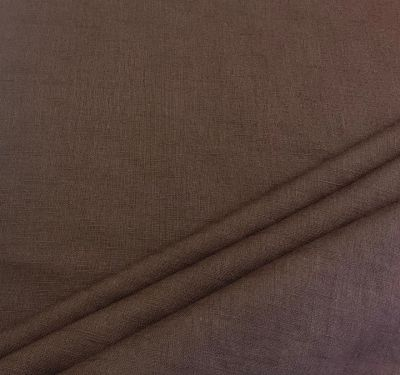 Washed Linen Chocolate Brown C540