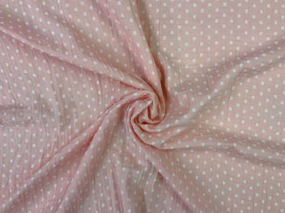 Dinky squares Muslin Double Cloth pink I214