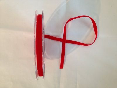9mm Velvet Ribbon Red