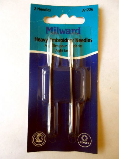 Milward Heavy Embroidery Needles Pack of 2