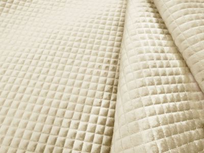 Quilted Velvet Ivory A125