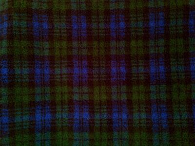 Tartan Sherpa Fleece Blackwatch