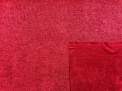 Bamboo Towelling Red A237