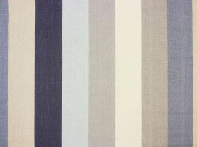 Seaside Stripe Blue Linen A46