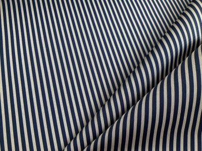 Navy Sea stripe waterproof outdoor fabric C584