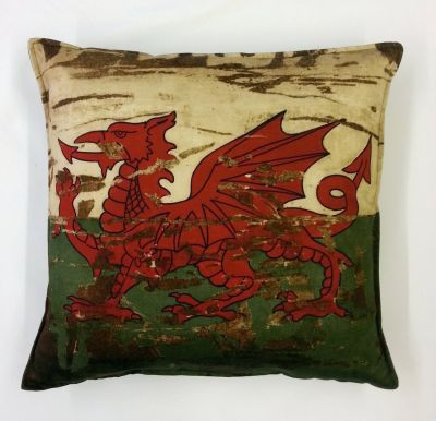 Textile Express Antique Welsh Flag Cushion