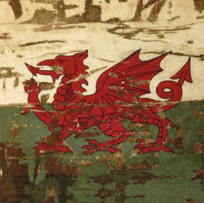 Antique Welsh Flag Cushion
