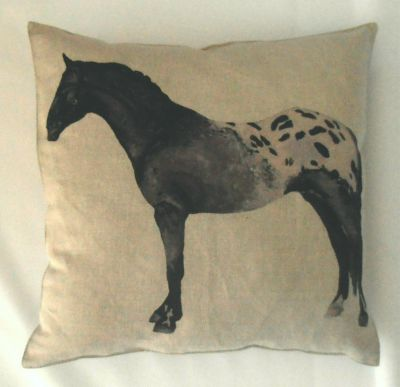 Textile Express Appaloosa Horse Cushion