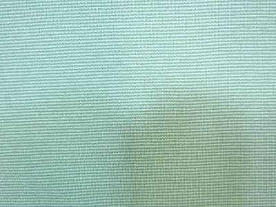 Organic Cotton Jersey Micro Stripe Aqua Blue Teal B124