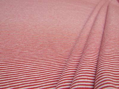 Organic Cotton Jersey Micro Stripe Red White B125