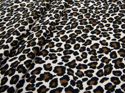 Leopard Jersey Cream Brown B129