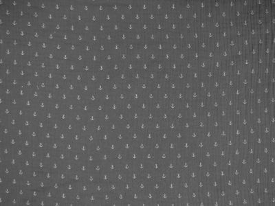 Anchor Double Cloth Muslin Grey B132