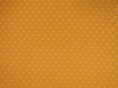 Anchor Double Cloth Muslin Mustard B133