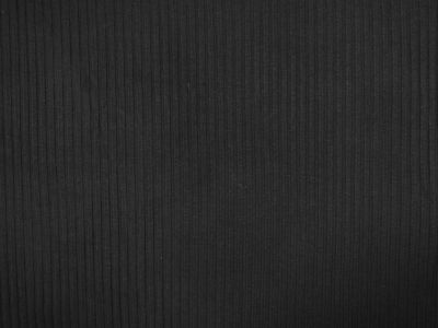 Ribbed Jersey Black B137