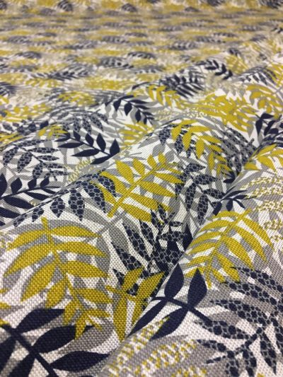 Autumn Palm Mustard Navy B146