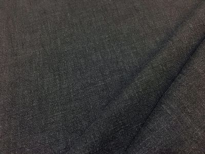Washed Ramie Linen Look Charcoal B169