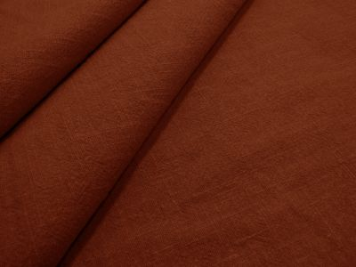 Washed Ramie Linen Look Rust B178