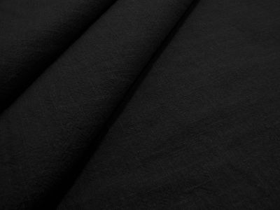 Washed Ramie Linen Look Black B182