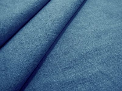 Washed Ramie Linen Look Ocean Blue B186
