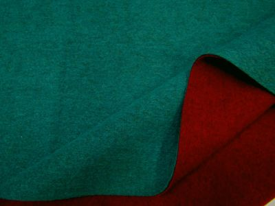 Double-Sided Felted Wool Touch Teal Burgundy B91