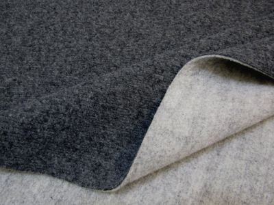Double-Sided Felted Wool Touch Light Grey Charcoal B92