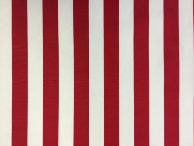Beach Hut Stripe PU Coated Red C165