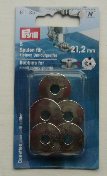 Prym Sewing Machine Bobbins Small Rotary Shuttle